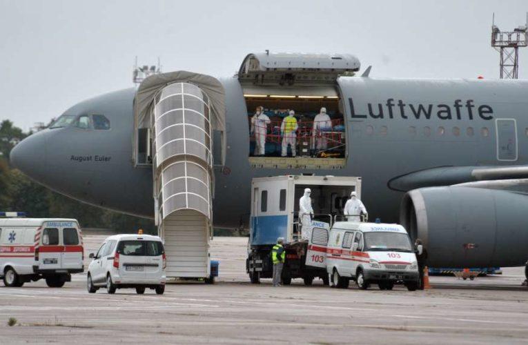 Медицинский борт ВВС вывез раненых украинских воинов на лечение в Германию