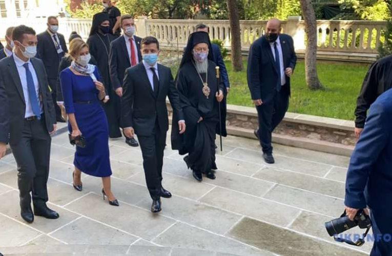 Владимир Зеленский встретился с патриархом Варфоломеем (Фото,Видео)