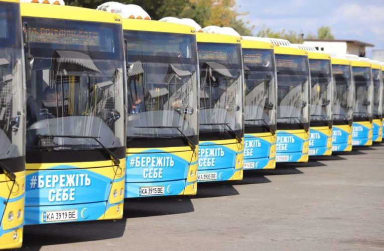 В Киев прибыла колонна из 50 автобусов из Беларуси