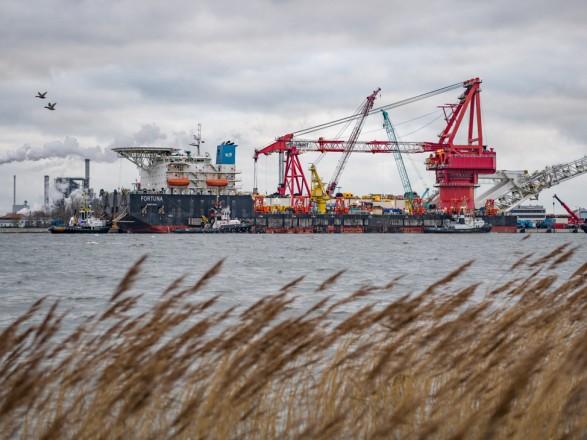 Судно «Фортуна» начало укладку «Северного потока — 2» в водах Дании
