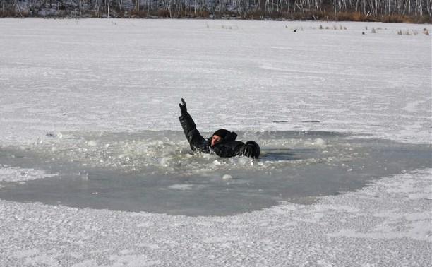 В Киеве курьер спас двух школьников, провалившихся под лед