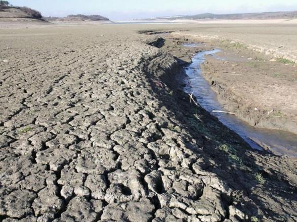 В Крыму обмелело еще одно водохранилище