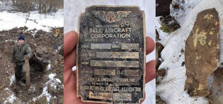 В Тернопольской области раскопали американский истребитель (Фото)