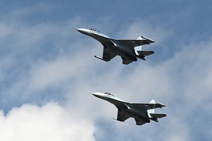 Российские Су-27 перехватили самолеты ВВС Франции над Черным морем