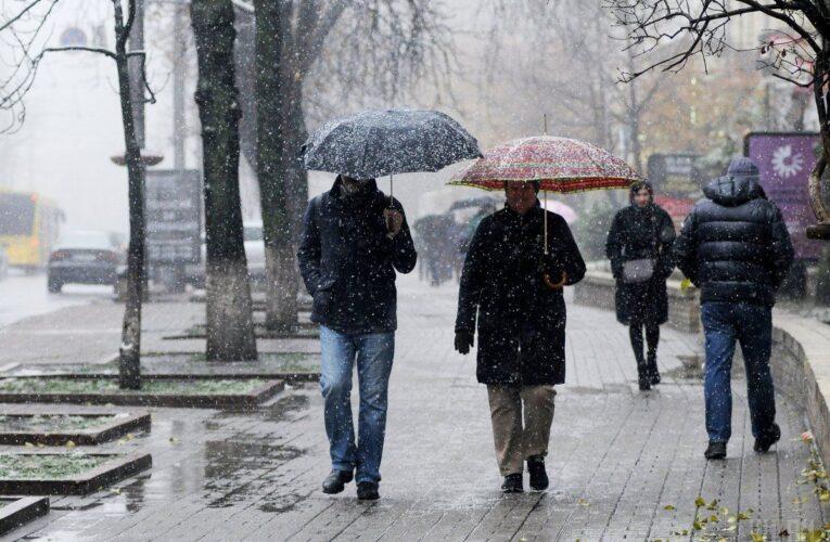 Украину накроют дожди и мокрый снег
