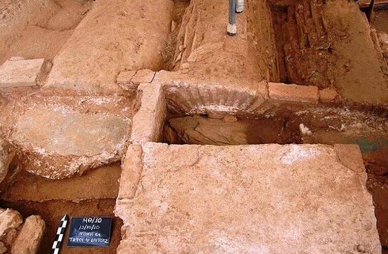 Ученые обнаружили погребение воина в центре Салоников