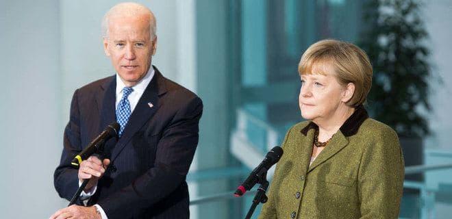 Меркель и Байден призвали Россию отвести войска от границы с Украиной