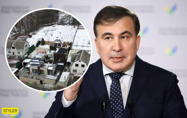 Журналисты показали роскошный особняк Саакашвили на Киевщине (Видео)