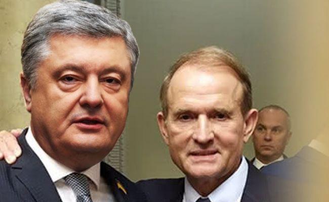 Зеленский заявил, что Медведчук и Порошенко вместе зарабатывали на войне на Донбассе