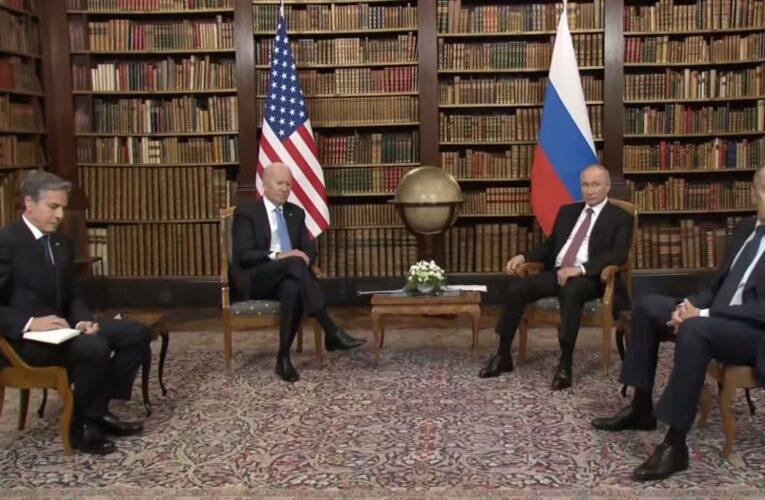 Переговоры Путина и Байдена в узком составе завершились