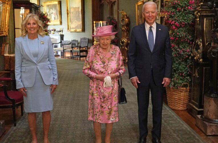 Елизавета II приняла Байдена с супругой в Виндзорском замке