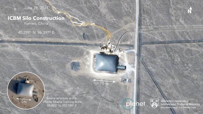 Китай строит 119 новых шахт для межконтинентальных ракет